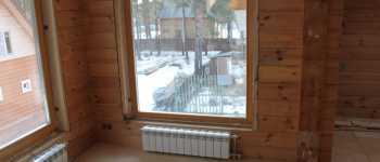 Окосячка в деревянном доме из бруса