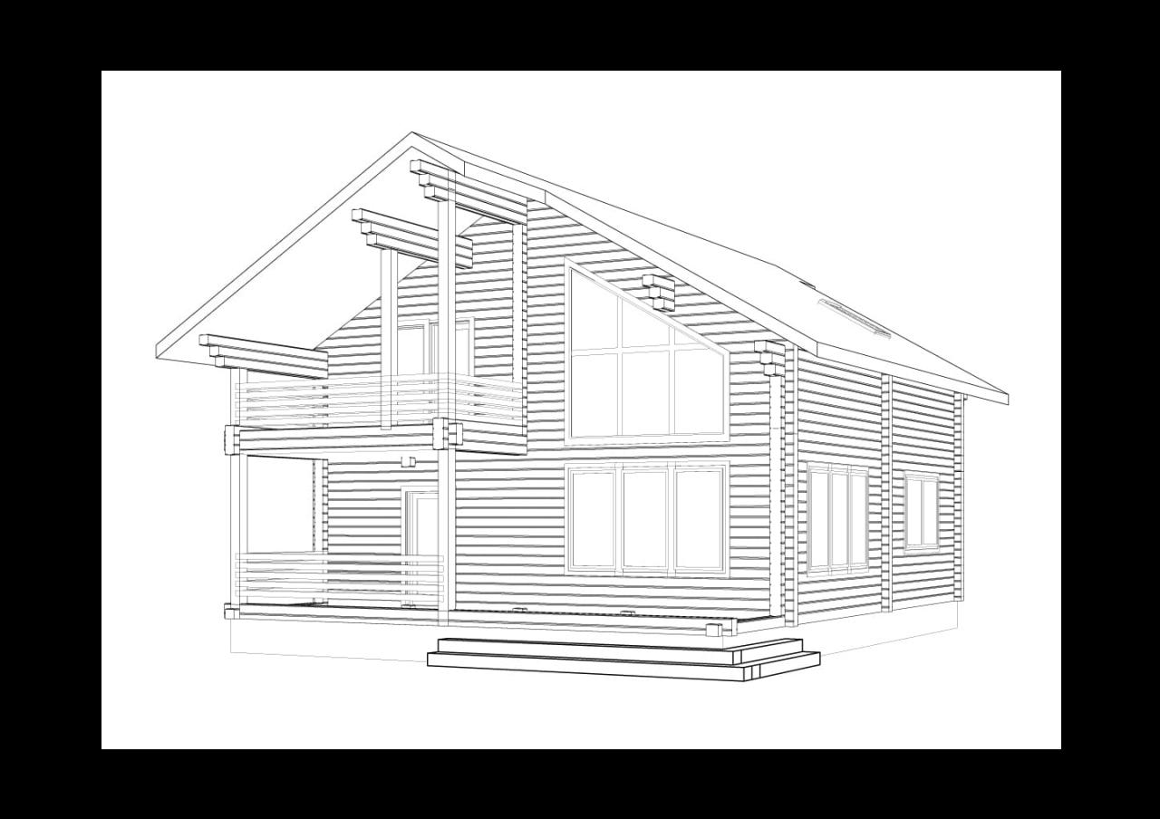 Проект частного дома из клееного бруса